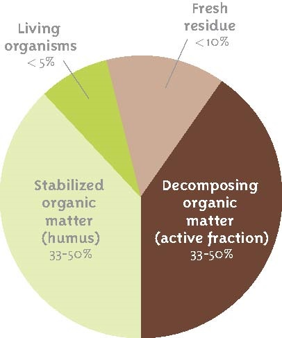 makeup of soil organic matter