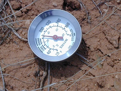 Measuring soil temperature